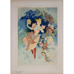 Maîtres de l'Affiche Original PLate la Comedie 205 Jules CHERET