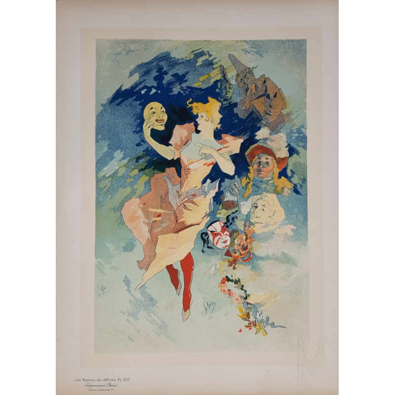 Maîtres de l'Affiche Planche originale 205 la Comedie Jules CHERET