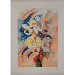 Maîtres de l'Affiche Original PLate 201 le Pantomime Jules CHERET