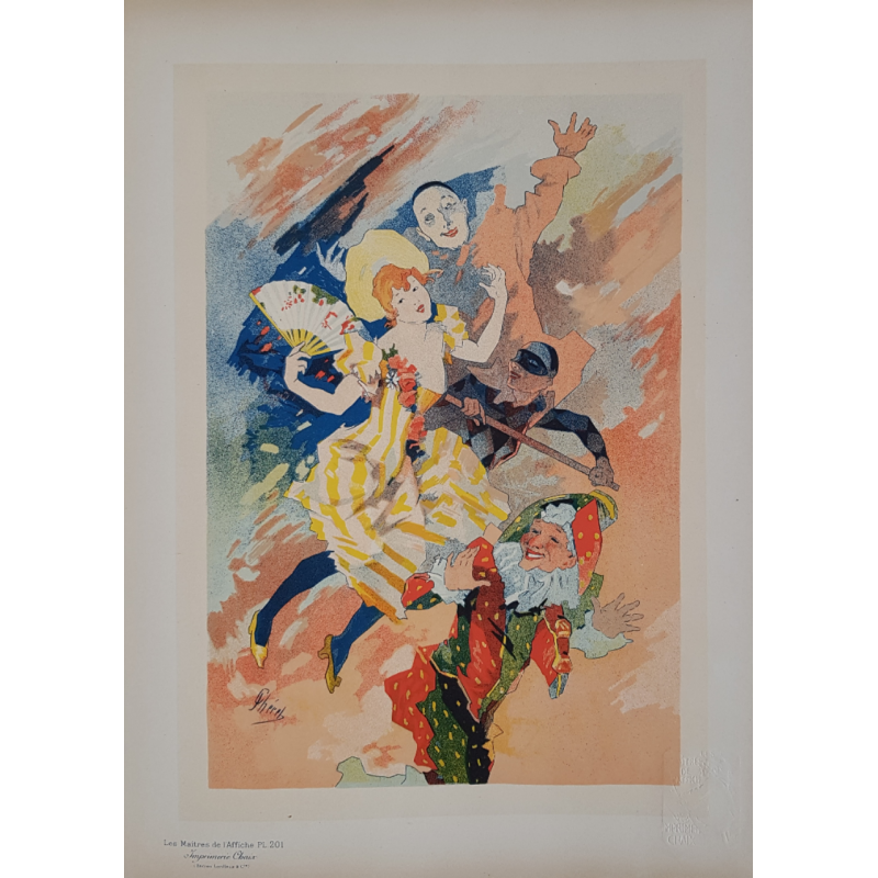 Maîtres de l'Affiche Planche originale 201 le Pantomime Jules CHERET