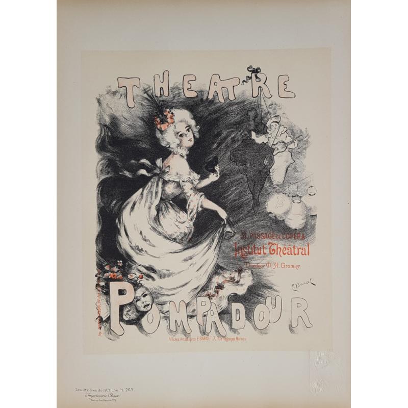Maîtres de l'Affiche Planche originale 203 Theatre Pompadour