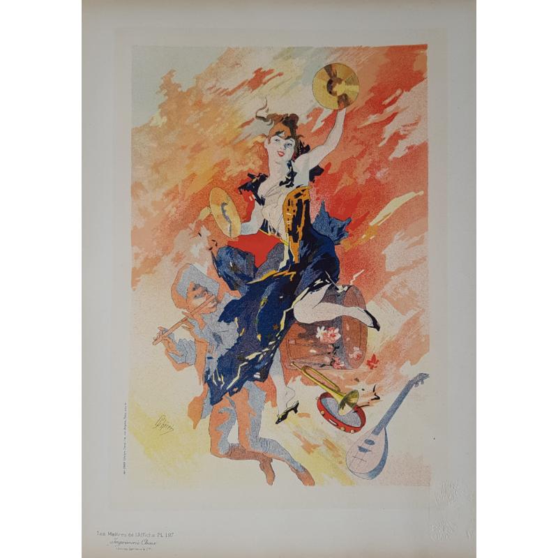 Maîtres de l'Affiche Planche originale 197 la Musique Jules CHERET