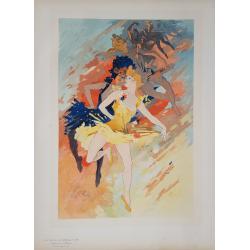 Maîtres de l'Affiche Original PLate 193 la Danse Jules CHERET
