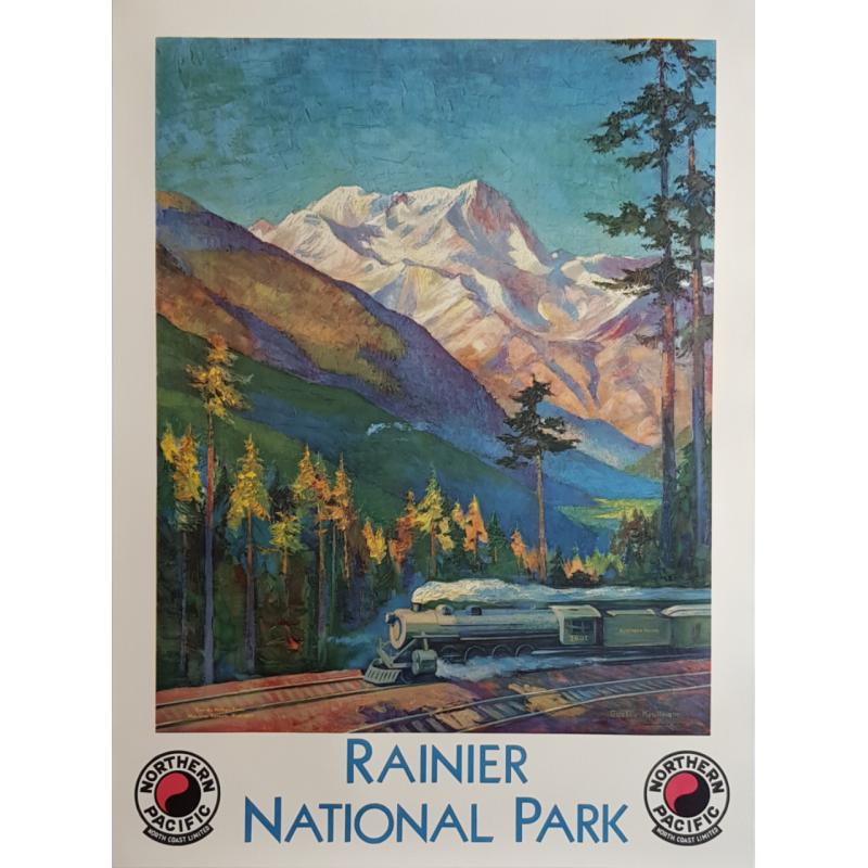Original vintage poster Rainier National Park Northern Pacific KROLLMANN