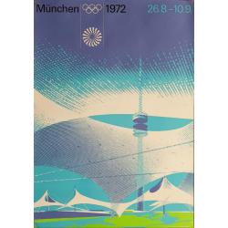Original vintage poster Olympic games stadium Munich 1972