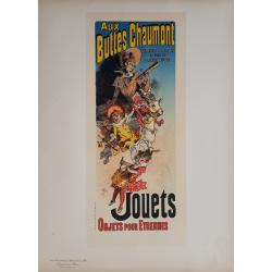 Maîtres de l'Affiche Original PLate 185 Aux buttes Chaumont Jouets objets pour étrennes