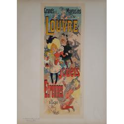 Maîtres de l'Affiche Planche originale 189 Grands Magasins du Louvre CHERET