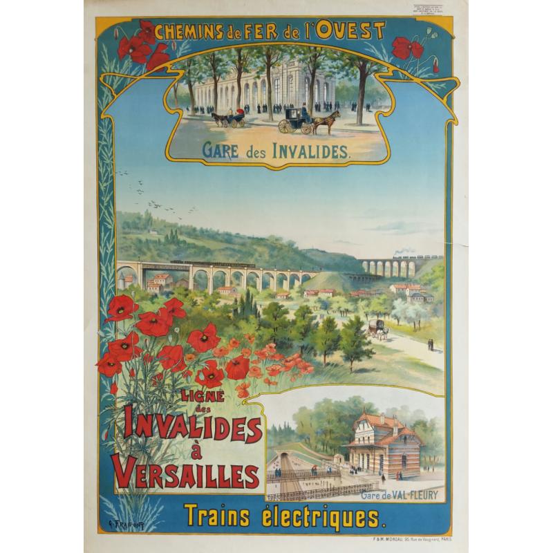 Original vintage poster Ligne des invalides à Versailles - G FRAIPONT