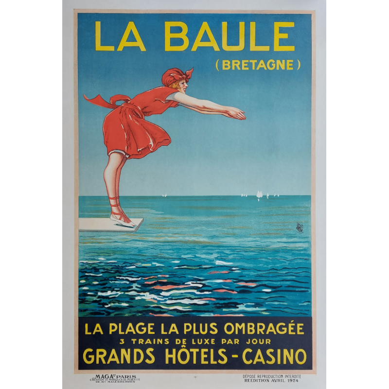 Original vintage poster La Baule Bretagne 1924