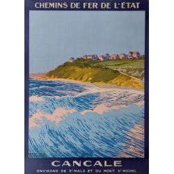 Affiche ancienne originale Cancale Henry De Renaucourt