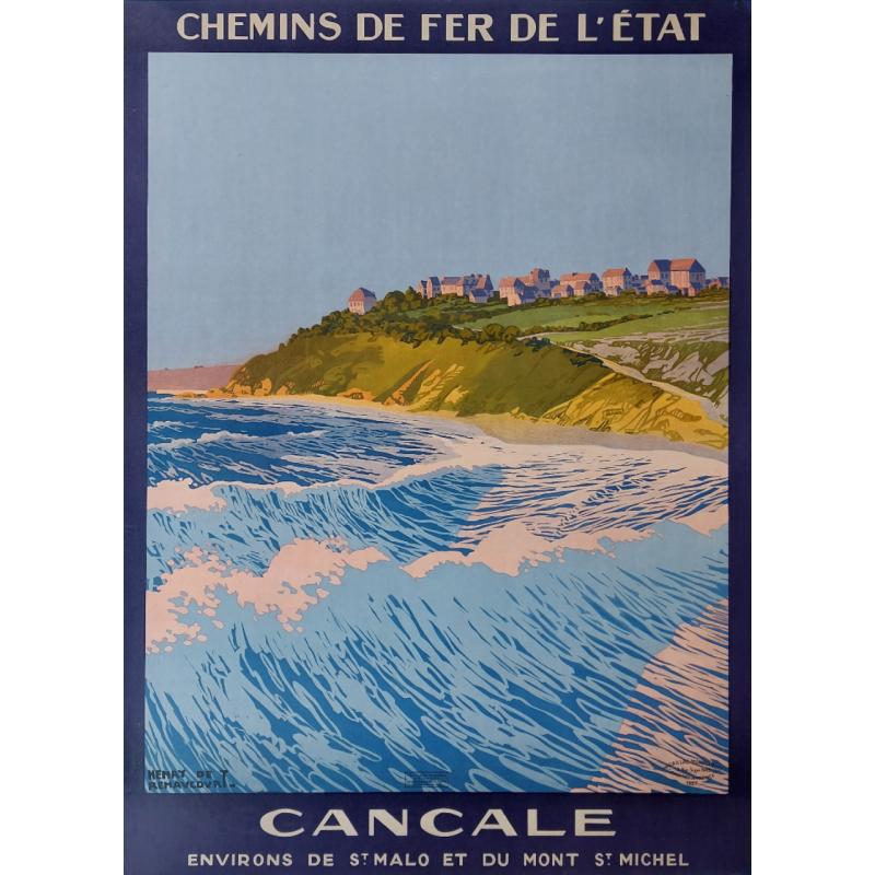 Original vintage poster Cancale Henry De Renaucourt