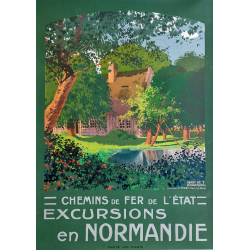 Original vintage poster Excursions en Normandie Yport Henry De Renaucourt