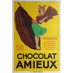 Affiche ancienne originale Chocolat Amieux STAHL