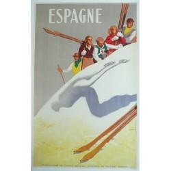 Original vintage poster sport ski ESPAGNE - Josep MORELL MACIAS