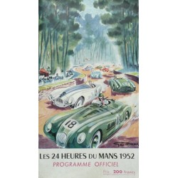 Programme ancien original officiel des 24 heures du mans 1952 couverture GEO HAM