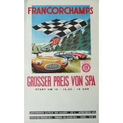 Affiche originale Grand prix de Spa Francorchamps 1952