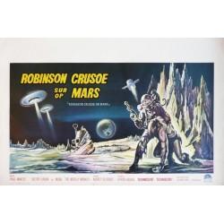 "Original vintage poster cinéma belge scifi science fiction "" Robinson crusoe sur mars "" Paramount"