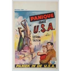 """Affiche originale cinéma belge scifi science fiction """" Panique aux USA """""""