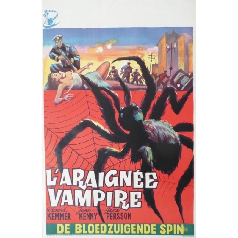 """Affiche originale cinéma belge scifi science fiction """" L'araignée vampire """""""