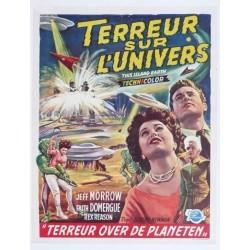 """Original vintage poster cinema belgium scifi science fiction """" Terreur sur l'univers """" Universal"""