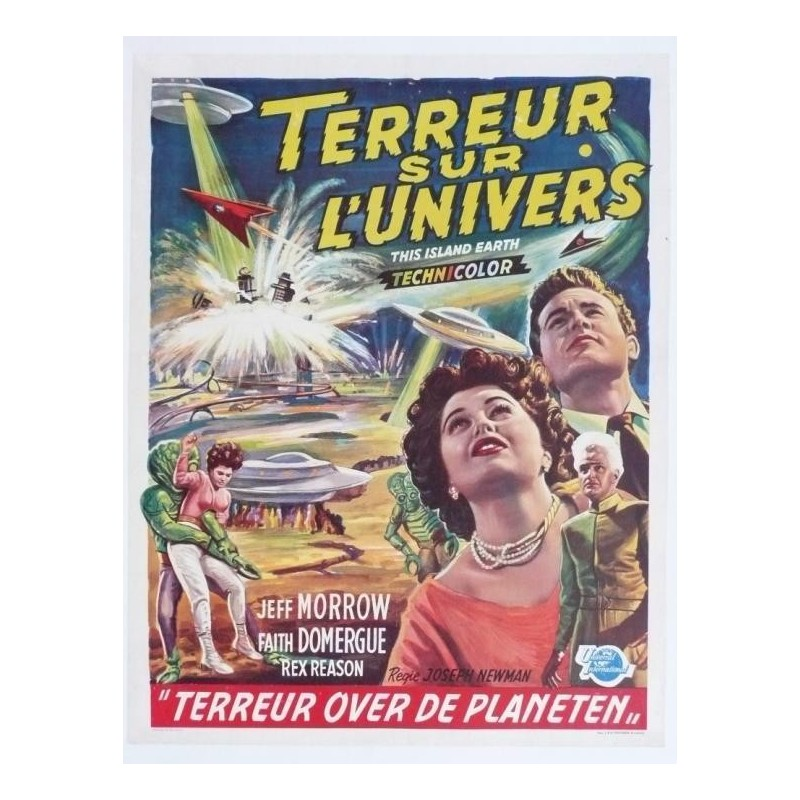 """Affiche originale cinéma belge scifi science fiction """" Terreur sur l'univers """" Universal"""