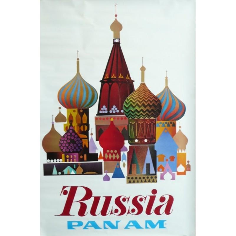Original vintage poster Pan Am Russia