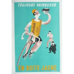 Affiche originale Kodak Photo Cyclisme Tour de france