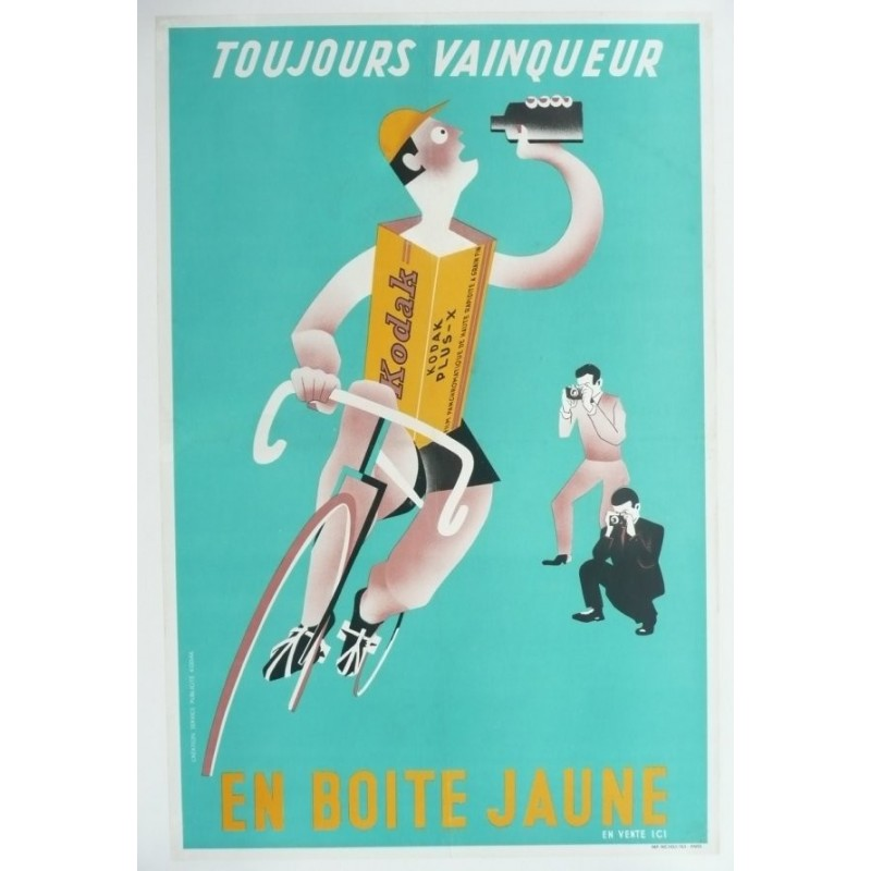 Original vintage poster Kodak Photo Cyclisme Tour de france