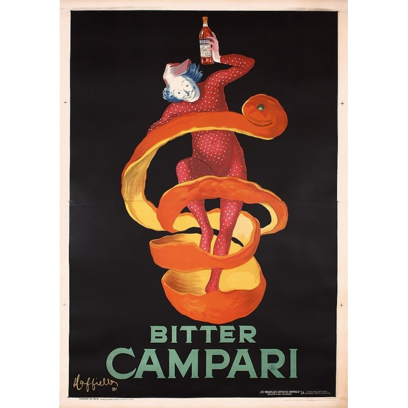 Affiche originale BITTER CAMPARI 200 cm x 140 cm - Leonetto CAPPIELLO