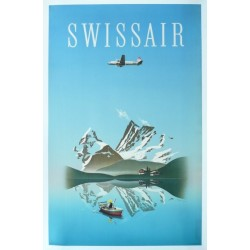 Affiche originale Swissair - Herbert LEUPIN