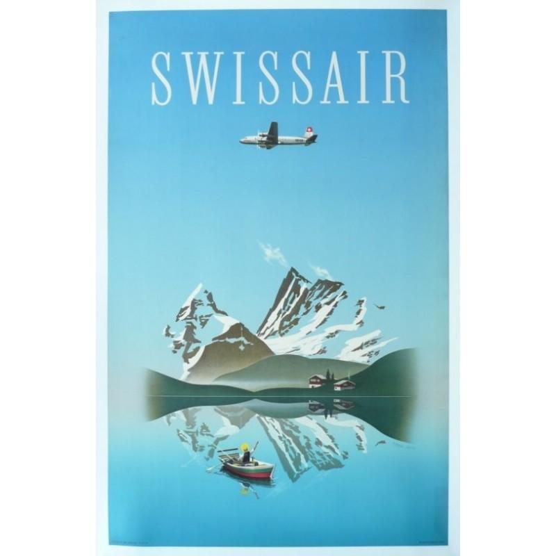 Original vintage poster Swissair - Herbert LEUPIN