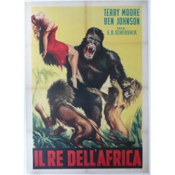 "Original vintage poster cinema Italy "" Il re dell'africa, Mighty Joe Young """