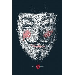 Affiche originale édition limitée V for Vendetta - Cesar MORENO - Galerie Mondo
