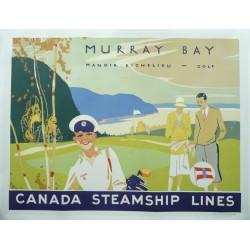 Affiche originale golf, Murray Bay, Canada Steamship Lines