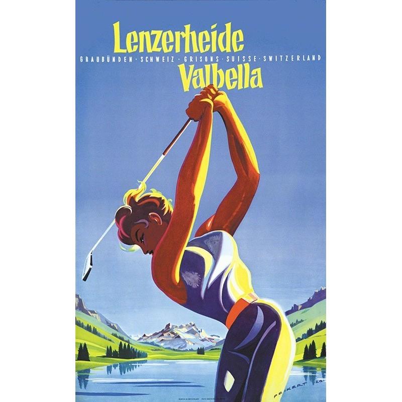 Original vintage poster golf Lenzerheide Valbella Switzerland - Martin PEIKERT