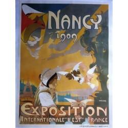 Original vintage poster exposition internationale de l'est de la France NANCY 1909 - P.R. CLAUDIN