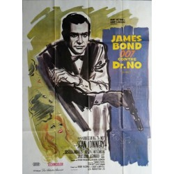 "Original vintage french movie poster James bond "" James bond 007 contre Dr NO "" Sean Connery"