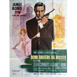 "Original vintage french movie poster James bond 007 "" From Russia with love "" Sean Connery"