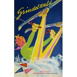 Original vintage poster ski Grindelwald Switzerland - Martin PEIKERT