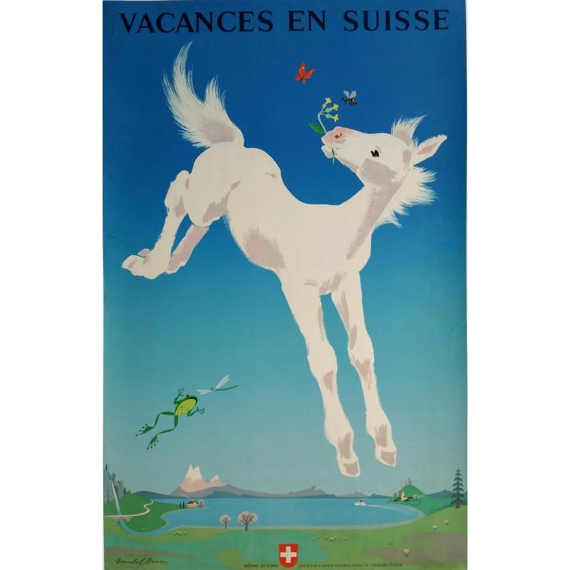 Original vintage poster Vacances en Suisse - Donald BRUN