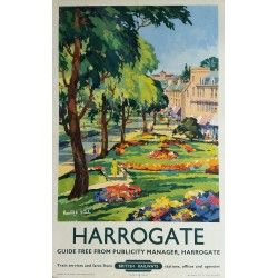 Original vintage poster Harrogate british railways 1953 - Kenneth STEEL
