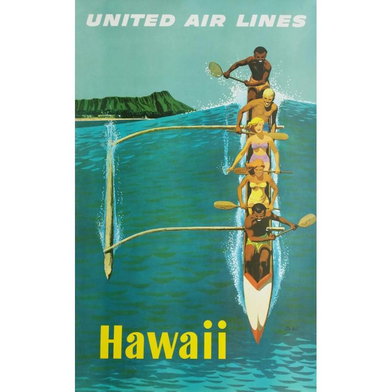 Original vintage poster United Airlines Hawaii - Stan GALLI