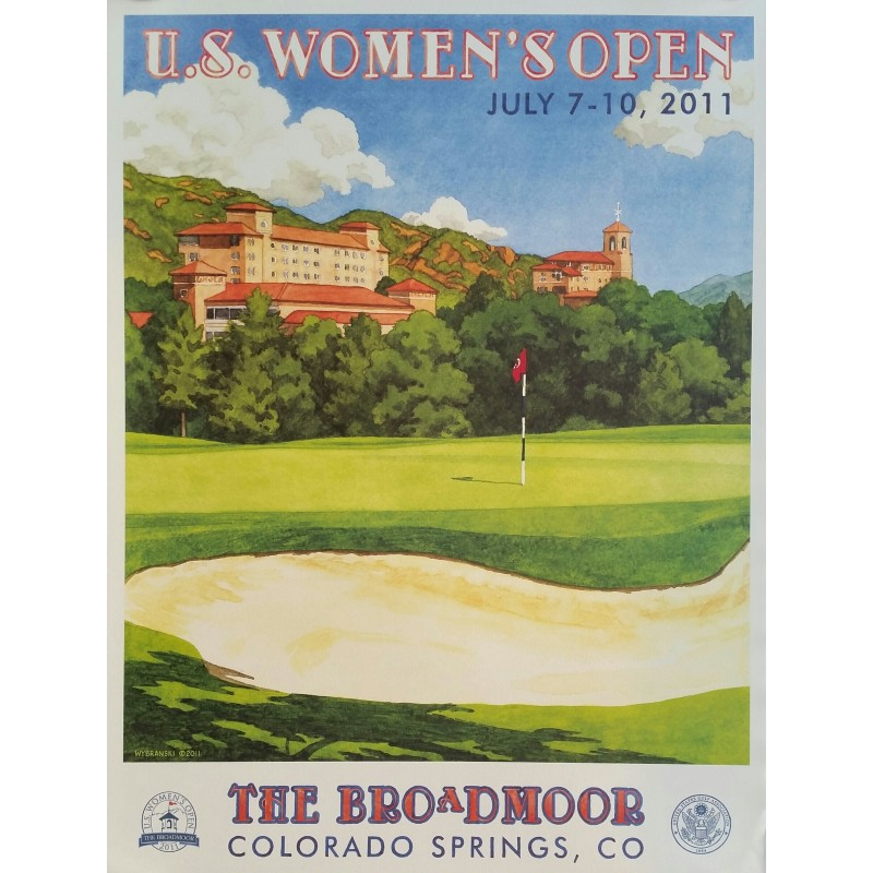 Original poster US Women's Open Golf USGA The Broadmoor July 2011 - Lee Wybranski