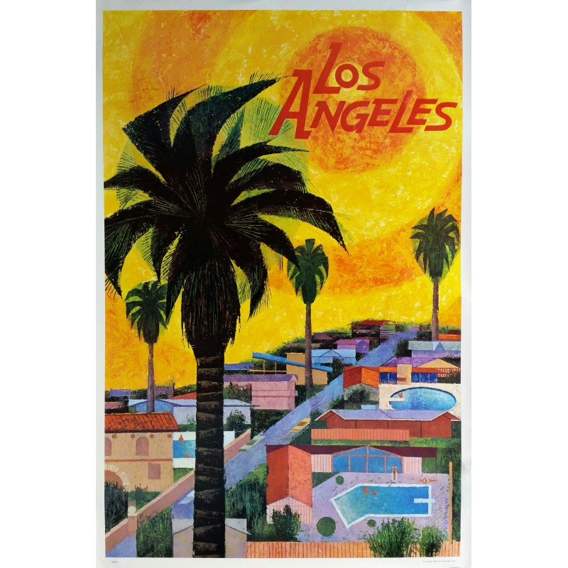Affiche ancienne originale Los Angeles - Howard KOSLOW