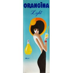 Affiche originale Orangina Light - Bernard Villemot