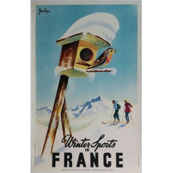 Original vintage poster Winter sports in France - Jean LÉGER