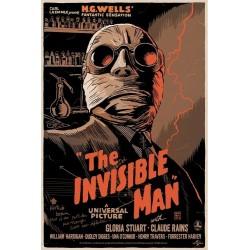 Affiche originale édition limitée Invisible Man - Francesco FRANCAVILLA - Galerie Mondo
