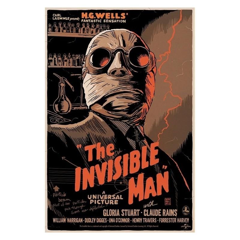Original silkscreened poster limited edition Invisible Man - Francesco FRANCAVILLA - Gallery Mondo