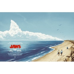 Original silkscreened poster limited edition regular JAWS - Galerie Mondo - Phantom City Creative