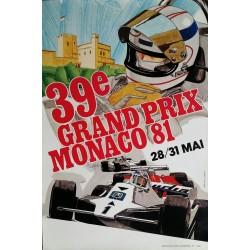 Original vintage poster Grand Prix de Monaco 1981 - J GROGNET